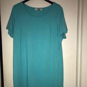 Avenue Teal Jersey Dress